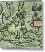 Map Of The East Indies Metal Print