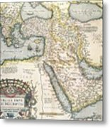 Map Of The Middle East From The Sixteenth Century Metal Print by Abraham Ortelius