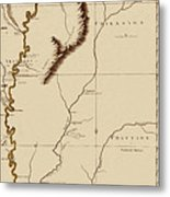 Map Of The Mississippi Riverr 1775 Metal Print