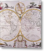 Map Of The World Metal Print