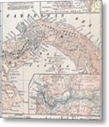 Map: Panama, 1907 Metal Print
