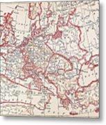 Map: Thirty Years War Metal Print