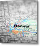 Map View For Travel To Locations And Destinations Metal Print