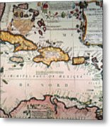 Map: West Indies Metal Print