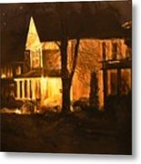 Maple Avenue Nocturne Metal Print