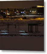 Maple Grove City Center In Winter Metal Print