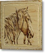 Maple Horse Metal Print