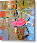I Am Here In The Changing Waters Metal Print