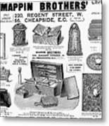Mappin Brothers Ad, 1895 Metal Print
