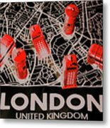 Maps From London Town Metal Print
