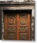 Marais Doorway Metal Print