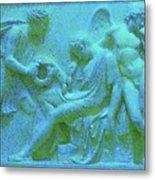 Marble Angel Relief Metal Print