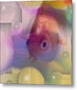Marble Fish Metal Print