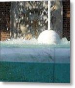 Marble Fountain Shower Metal Print