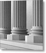 Marble Pillars Building Detail. 3d Illustration Metal Print