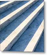 Marble Steps, Jefferson Memorial, Washington Dc, Usa, North America Metal Print