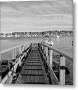 Marblehead Massachusetts Dock Metal Print