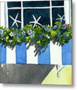 Marblehead Planter Box Metal Print