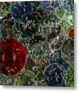 Marbles Clear Soda 2 Metal Print