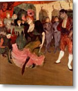 Marcelle Lender Dancing The Bolero In Chilperic Metal Print by Henri de Toulouse Lautrec