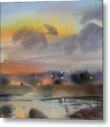 March Evening On The River Metal Print