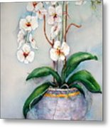 March Orchids Metal Print