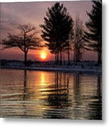 March Sunrise At Detroit Point Metal Print