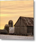 March Sunrise On The Farm Metal Print