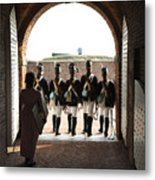 Marching Off On Detail At Fort Mchenry Metal Print