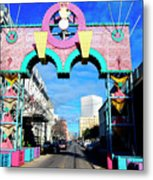 Mardi Gras In Galveston Metal Print