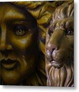 Mardi Gras Lion Metal Print