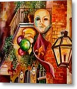 Mardi Gras Night Metal Print