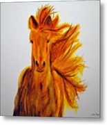 Mare In Motion Metal Print