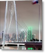 Margaret Hunt Hill Bridge Flag Metal Print