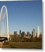 Margaret Hunt Hill Bridge In Dallas - Texas Metal Print