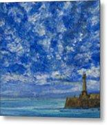 Margate Sea And Sky Metal Print