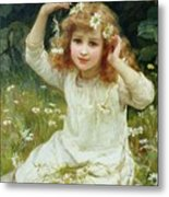 Marguerites Metal Print by Frederick Morgan