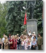 Mariage Under Lenin's Protection Metal Print