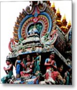 Mariamman Temple Detail 3 Metal Print