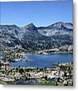 Marie Lake Panorama From High Above - John Muir Trail Metal Print