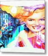 Marilyn In Italy Metal Print