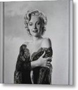 Marilyn In Lace Metal Print
