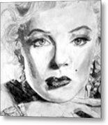 Marilyn In Pose Metal Print