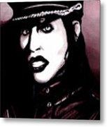 Marilyn Manson Portrait Metal Print