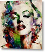 Marilyn Metal Print by Michael Tompsett