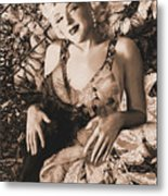 Marilyn Monroe 126 A 'sepia' Metal Print