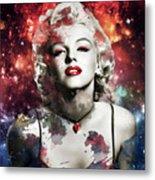 Marilyn Monroe   Colorful  Metal Print