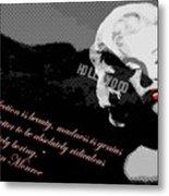 Marilyn Monroe Imperfection Is Beauty Metal Print by Brad Scott