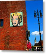 Marilyn Monroe In Detroit Metal Print by Guy Ricketts