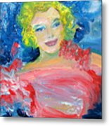 Marilyn Monroe In Pink And Blue Metal Print
